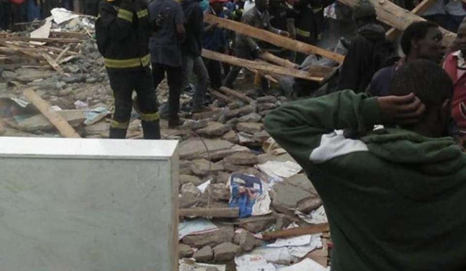 Classroom collapses on pupils at precious talent-Ngong Road